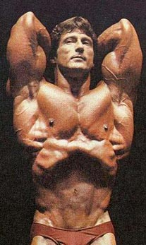 ... abdominis Picture: Frank Zane makes his waist smaller with a vacuum